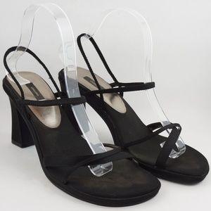 VINTAGE 90s Xhilaration Strappy Sandal Heels Black
